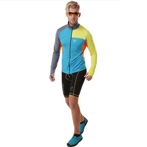 长袖外套 撞色拼接修身骑行衣 aaeb91041 星空蓝图片